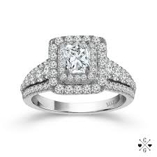 radiant cut halo engagement rings 14k white gold 1 16cttw radiant cut halo engagement