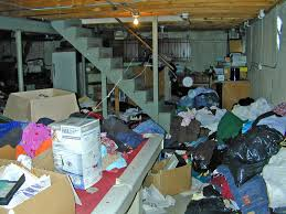 backyard fall clean outs out unwanted junk junk basement