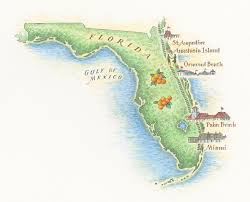Ormond Beach Florida Map by Maps U2014 John Burgoyne Illustrationjohn Burgoyne Illustration