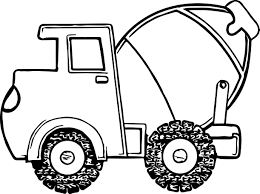 fat cement truck coloring wecoloringpage