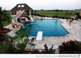 Swimming Pool Backyard by Best 25 Pool Slides Ideas Only On Pinterest Swimming Pool