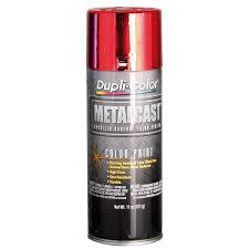 dupli color metalcast aerosol paint enamel red anodised 311g