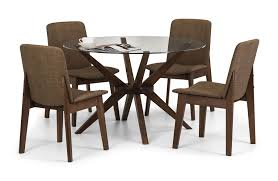 Julian Bowen Chelsea Round Dining Table Only Glass  Solid Beech - Beech kitchen table