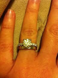 plain engagement ring with diamond wedding band plain engagement ring with diamond wedding band wedding band with