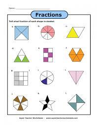 fractions of shapes worksheet multiplying worksheets printable