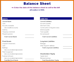 Template For A Balance Sheet by 8 Balance Sheet Template Itinerary Template Sle