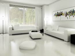 awesome living room with gray sofa modern white interior design