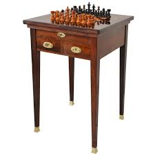viennese convertible chess table in rosewood veneer for sale at