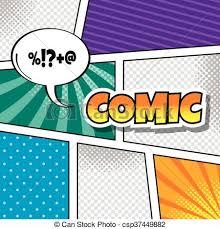 vector of cartoon comic book template theme vector art