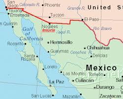 map of mexico and california california mexico border map mexico map