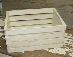 white distressed wood crate all reclaimed and salvaged wood
