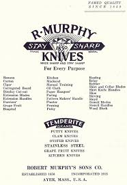 names of kitchen knives company history