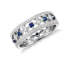 gold eternity rings sapphire and diamond eternity ring in 18k white gold tanary jewelry