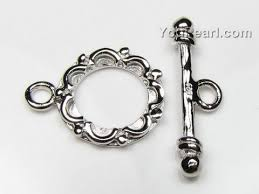 sterling silver bracelet clasps images Quality clasp wholesale fancy toggle 12 7mm rhodium plated jpg