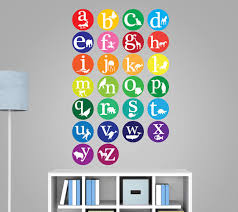 Alphabet Wall Decals For Nursery Alphabet Wall Decals Animal Alphabet Decal Nursery Wall