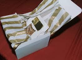 how to use tissue paper in a gift box boxes and wrap for gourmet toffee gifts