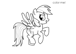 rainbow dash coloring free download