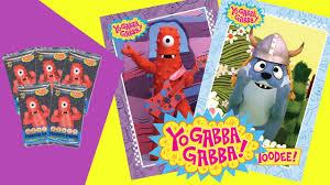 yo gabba gabba trading cards mystery box monday toy planet