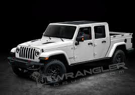 jeep 2019 jeep wrangler pickup rendered