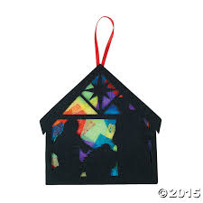 religious tissue paper nativity craft kit 12 pk party supplies
