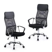 Mesh Computer Chair by Ikayaa Adjustable Office Chair Executive Chair Stool Swivel