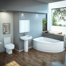 rak series 600 bathroom suite with orlando corner bath left hand