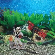 aquarium fish tank sea treasure diver air ornament