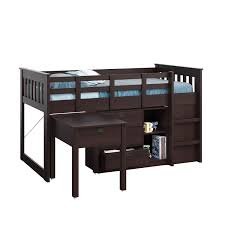 Kids Beds With Desk by Amazon Com Corliving Bmg 370 B Madison Loft Bed With Desk And