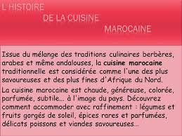cuisine arabe 4 la gastronomie marocaine ppt télécharger