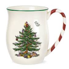 spode tree mug with peppermint handles set of 4 spode uk