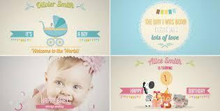 birthday photo album birth announcement baby birthday album by creativethings videohive
