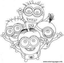 happy minion coloring coloring pages printable