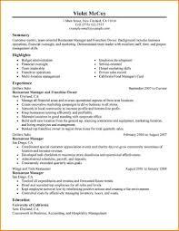 Restaurant Manager Resume Restaurant Manager Resume Building