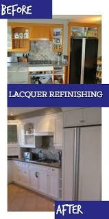 best finish for kitchen cabinets lacquer interior design kitchener cambridge on repainting