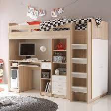 lit mezzanine combiné bureau lit mezzanine unit sonoma blanc lit combiné lit
