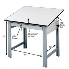 Drafting Table Mat Alvin Drafting Table Designmaster Gray 37 5x72 Top