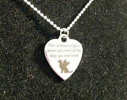 pet memorial necklace pet memorial jewelry etsy