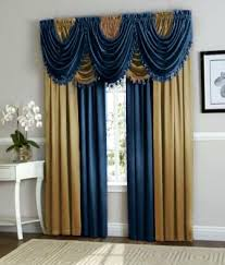 Navy Blackout Curtains Navy Blue Curtains Navy Blue Gold Curtain Set Image 1 Navy Blue