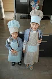 tablier et toque de cuisine tablier et toque de cuisinier enfant mes créa couture