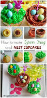 lemon cupcakes with grass frosting perfect for easter