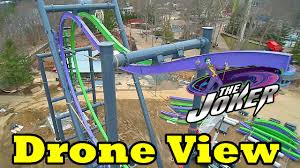 New Jersey Six Flags Address Drone Video New Ride Joker Total Mayhem Six Flags Great