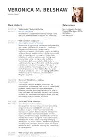 Senior Web Designer Resume Sample Webmaster Resume Samples Visualcv Resume Samples Database