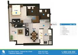 75 Sqm To Sqft Floor Plans Of The Wave Najmat Al Reem Island