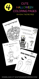 four cute and totally free halloween coloring pages halloween