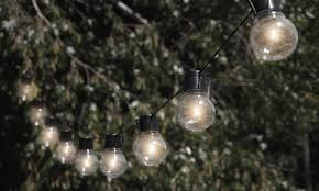 Solar Powered Patio Lights String Nitebulbs Solar Powered Outdoor String Lights Groupon