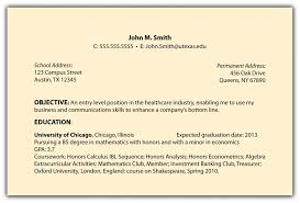 Resume Objective Entry Level College Resume Objective Tips Entry Level It Project Manager For