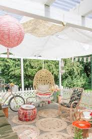 oriental accent and patio shabby chic style with porch swings