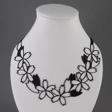 silicone necklace images Sakura necklace black silicone jewelry coruu design finland jpg