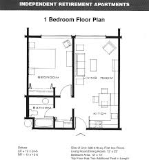 Two Bedroom Floor Plan by Download Small 1 Bedroom Apartment Floor Plans Home Intercine