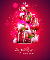 merry gifts collection vector free vector graphic